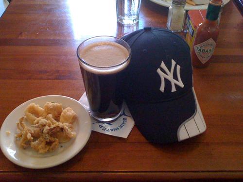Guinness. Calamari. Yankees. All things Gregg loved. (Photo: @davidmoyle)